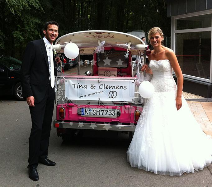 TukTuk Hochzeitsfahrten